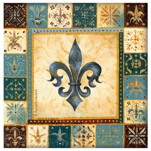 Thirstystone 4-Piece Blue Fleur de Lis I Coaster Set by - Coaster Lis Set Fleur De