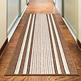 """NEW BEIGE CREAM BROWN COLORFUL MODERN WASHABLE NON SLIP KITCHEN UTILITY HALL LONG RUNNER DOOR MAT RUG (5 SIZES AVAILABLE) (50x80cm (1'8""""x2'4""""))"""