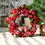 samLIKE DIY Frohe Weihnachten Kranz Garland Fenster Tür Dekorationen Bowknot Ornament (C)