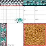 Wallpops WPE1952Dry Erase Indra organizzazione Decal kit–multicolore