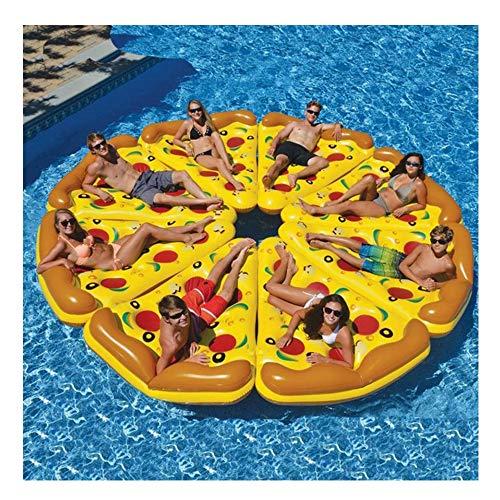 Kimmyer 8er Packung Hochwertiger, riesiger, aufblasbarer Pizza Slice Pool Float, extra groß mit Getränkehaltern, Fun Pool Floaties, Schwimmparty Spielzeug, Sommer Pool Raft für Swmming Pool -