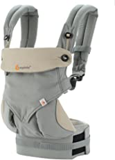 Ergobaby 360 All Carry Positions Award Winning Ergonomic Baby Carrier (Grey)