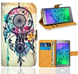 Samsung Galaxy Alpha Handy Tasche, FoneExpert Wallet Case Flip Cover Hüllen Etui Ledertasche Lederhülle Premium Schutzhülle für Samsung Galaxy Alpha