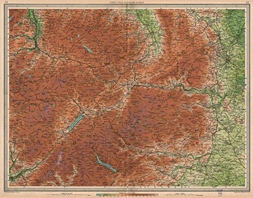 DEE VALLEY: Bala Wrexham Llangollen Corwen Chirk Ceiriog Vale Clwyd 1939 map
