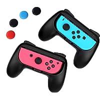 iAmer Comfort Grips Per Nintendo Switch Joy-Con , [2 Pezzi] Manico Grip per il Controllo Nintendo Switch Joy-Con(Nero)+4…