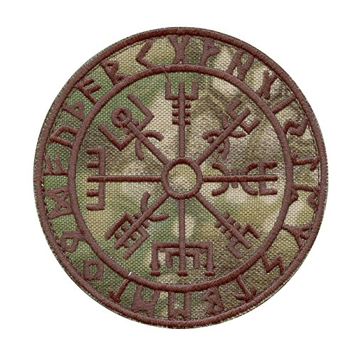Vegvisir Kryptek Mandrake Viking Compass Norse Rune Morale Touch Fastener Patch