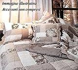 Centesimo Web Shop Trapunta Invernale Vero Patchwork Cotone Due PIAZZE 260x260 cm - Fantasia Patchwork Shabby Chic Country Floreale Beige Grigia Grigio -
