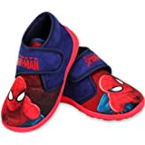 Spiderman Jungen Hausschuhe hoch geschlossen Klettverschluss rutschfeste Sohle 24 25 26 27 28 29