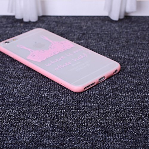 EKINHUI Case Cover spitzen - kleid blumen die pc - hard - rückseite mit gedruckten muster + tpu stoßstange für iphone 5s 65 plus. ( PATTERN : Woman-Black , Size : IPhone 6S 6 ) Bra-Pink