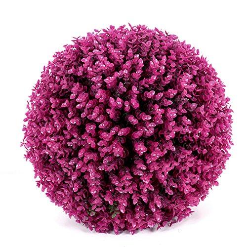 Buchsbaum Topiary Ball künstliche Pflanze Ball dekorative Simulation Gras Ball Lavendel lila Eukalyptus Indoor Outdoor-Mittelstück für Hochzeit Weihnachten Wohnkultur (2pcs, 24cm)