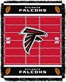 NFL Atlanta Falcons Field Woven Jacquard Baby Throw Blanket, 36x46-Inch