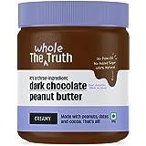 The Whole Truth - No Added Sugar Dark Chocolate Peanut Butter - Creamy - 325g - Gluten Free - Vegan