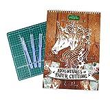 Adventures in Paper Cutting Kit Serie 2 von Emma Boyes, Papercut-Vorlagen, Designs und Muster, perfekt für Anfänger: Verwandeln Sie ein einzelnes Stück Papier in ein Kunstwerk