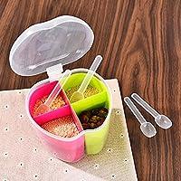 Orpio New Apple Type Kitchen Seasoning Box /Spice Box / Spice Container Box / Masala Box 4 Case(Random Color)