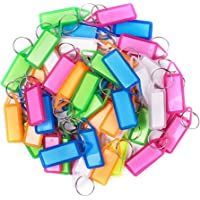 WeKonnect; Multicolor Keyring & Keychain with Name Tag Labels (Made in India) (Pack of 25)