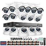 Annke Überwachungssystem Videoüberwachung 16CH 1080P TVI CCTV System DVR Recorder mit 16 x 1080P Überwachungskameras für innen und außen Bereich ohne Festplatte Nachtsicht zwischen 20-30 Meter