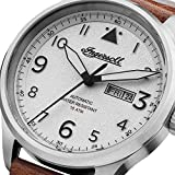 Ingersoll Mens The Bateman Quartz Watch with White Dial and Brown Leather Strap I01801