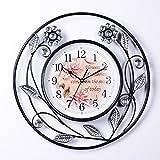kinine Silenciar los ideas simple y de moda metálico una cara pared reloj dormitorio salón reloj adornos de artesanía vintage