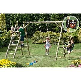 Gartenpirat-Schaukel-Holz-Classic-31-Schaukelgestell-mit-Leiter-und-Seil