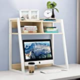 INDIAN DECOR. 45457 All New Living Room Bookcase Desktop Bookshelf Simple Desk On The Debris Books Storage Shelf Magazine Alb