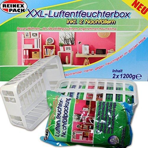 (120) XXL Luftentfeuchter Box m 2 x 1,2 Kg Nachfüllen Granulate Raumentfeuchter