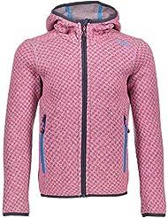 CMP lana 3h16575niña Chaqueta, Otoño-invierno, niña, color Argento Mel.-Pink Fluo, tamaño 104