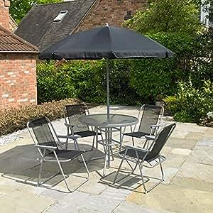 kingfisher fs6pb gartenm bel set 6 teilig. Black Bedroom Furniture Sets. Home Design Ideas