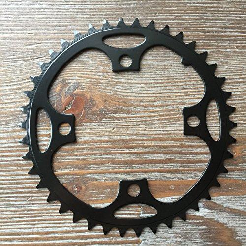 Kettenblatt 38/42/44/46 Zähne 4-Arm MTB Chainring 104 mm Lochkreis Stahl Schwarz (42 Zähne)