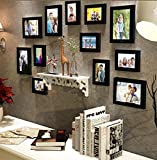 #10: Art Street - Classy decor Of 12 Individual wall Photo Frame (5 units of 5x7 and 7 units 4x6) with PVC wall shelf