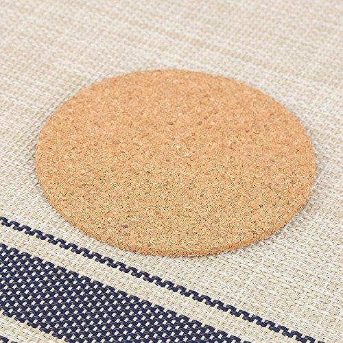 1PCS natur Kork Untersetzer Becher Kaffee Tee Getränke Wein Halter Matte Flasche Pad Tisch-Sets Home Tisch Decor, Wie abgebildet, Rund