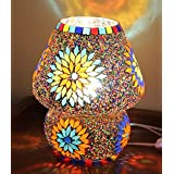 [Sponsored Products]TiedRibbons® Multicolour Mosaic Style Dome Shaped Glass Table Lamp For Gift & Home Décor | Decorative Gift Items | Diwali Lights For Decoration Of Home | Diwali Gifts Items | Corporate Gifts For Office