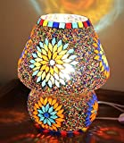 #4: TiedRibbons® Multicolour Mosaic Style Dome shaped Glass Table Lamp For Gift & Home Décor | decorative gift items | diwali lights for decoration of home | diwali gifts items | corporate gifts for office