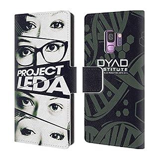 Head Case Designs Offizielle Orphan Black Augen Projekt Leda Brieftasche Handyhülle aus Leder für Samsung Galaxy S9