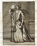 theprintscollector antico print-costume-lady-constantinople-istanbul-turkey-le brun- de bruyn-1700