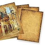 50 Blatt CASANOVA Briefpapier - Motivpapier 90g DIN A4 beidseitig altes Papier