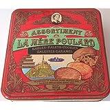La Mère Poulard Mont Saint-Michel - Assortiment Boite Métale de Galettes au Caramel - Sablés - Palets - Cookies...