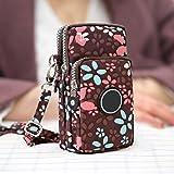 Ysoom Phone Tasche, Multifunktionale Handy Tasche 3 Schichten Crossbody Schulter Mini Handtasche wasserdicht Nylon Wristlet P
