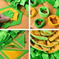 Aijiaye Dog Puzzle Toys, Pet Snuffle Feeding Mat, Interactive Game for Boredom, Encourages Natural Foraging Skills for Cats Dogs Portable Travel Use, Dog Treat Dispenser Indoor Outdoor Stress Relief from Aijiaye