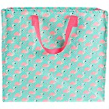 Tropical Flamingo Storage Bag Pink Shopping Tote Bag Carry Cute Animal