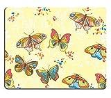 Msd Natural rubber Gaming Mousepad Image ID: 13619945Seamless sfondo con ornamento floreale con foglie e farfalla per vintage design Vector retro sfondo