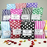 Personalised Sweet Bags For Parties - Wedding Favour, Birthday, Christening, Hen Party, Corporate - 10,20,30,50,100,150,200 Any Phrase