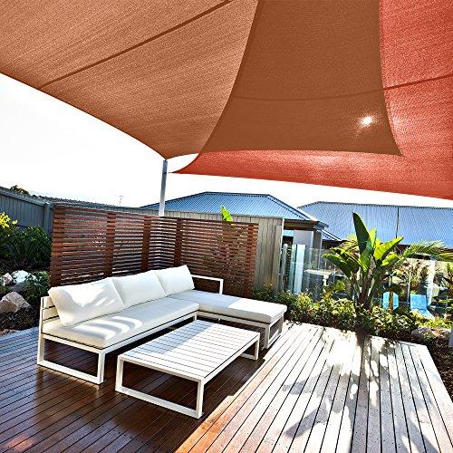 Cool Area 3,5×3,5×4,95m Dreieck Sonnensegel Sonnenschutz Segel