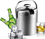European ice bucket, champagne bucket, stainless steel, household insulated bucket, ice cube cooler, ice beer bucket, for KTV bar, cocktail party, party