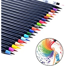 20 Colours Watercolour Brush Pens Set Soft Flexible Tip Ink Water Paint Brush Painting Art Markers