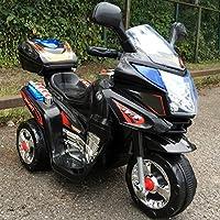 Trendsky Kinder Schwarz Motorrad Elektrofahrzeug Bike Kindermotorrad Elektromotorrad