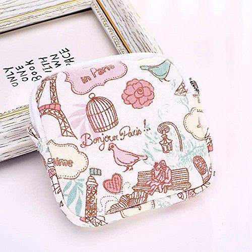 Longra Donna Stoccaggio Cosmetic Bag Borsa in cotone lana Rosa Comprar Barato Visa De Pago zDUN8rbv