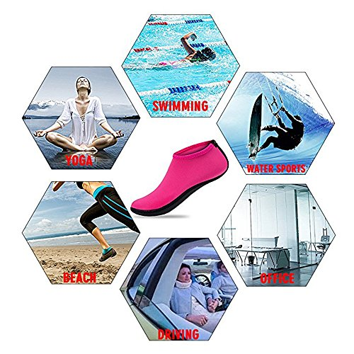 Unisex spiaggia nuoto calzini immersioni Snorkeling caviglia calze,Scarpe da surf spiaggia per Sportive verde
