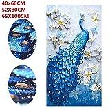 Leoie 5D Peacock Diamond Embroidery Full Rhinestone Cross Stitch Painting Home Hotel Art