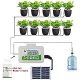 Système d'arrosage automatique à énergie solaire, système d'irrigation automatique goutte à goutte, système d'arrosage automatique avec minuterie, pour les plantes en pot d'intérieur