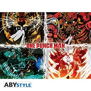 ABYstyle Abysse Corp_ABYDCO497 One Punch Man - Póster de los Niveles de Desastre (52 x 38)